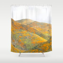 Southern California Poppy Superbloom Shower Curtain