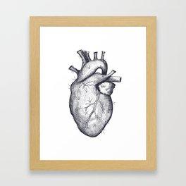 Cactus heart Framed Art Print