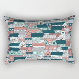 A lot of Houses Rectangular Pillow
