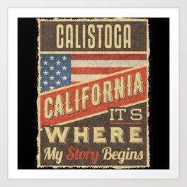 Calistoga California Art Print