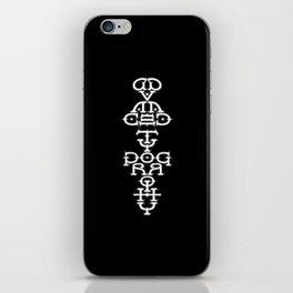 Advanced Typography iPhone Skin
