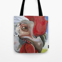 chicken Tote Bags featuring Chicken by Jeanne Hollington