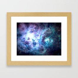 Tarantula Nebula Blue Lavender Gold Framed Art Print