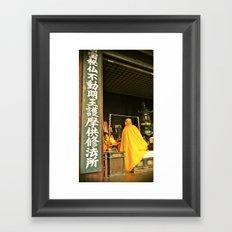 Monk Framed Art Print