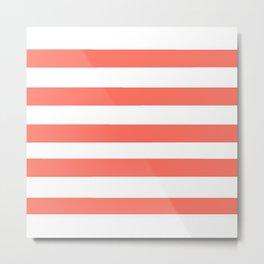 Mariniere marinière – coral Metal Print