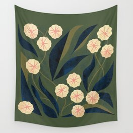 Green Floral Wall Tapestry