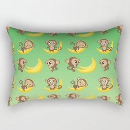 Monkeys with banana Rectangular Pillow