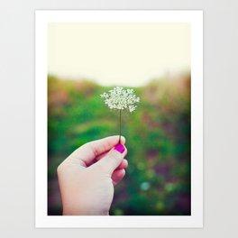 Hold My Flower Art Print