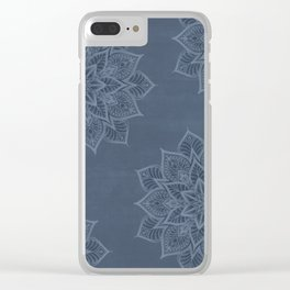 Essence - Stamp Blue Clear iPhone Case