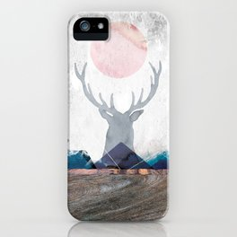 Deer In Mountains iPhone Case