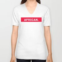 african V-neck T-shirts featuring AFRICAN by Iman Bss - BssStore
