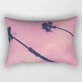 Pink Palms & Haze Rectangular Pillow