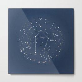 LIBRA - Astronomy Astrology Constellation Metal Print