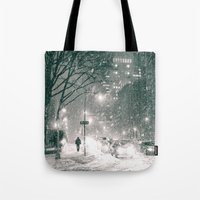 nyc Tote Bags featuring NYC by Vivienne Gucwa