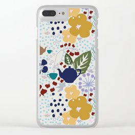 After The Rain Tea Clear iPhone Case