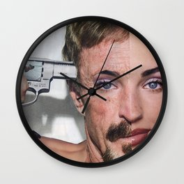 Personality Crisis  - Vintage Collage Wall Clock