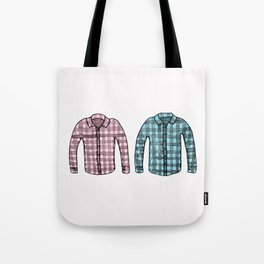 Flannel shirts Tote Bag