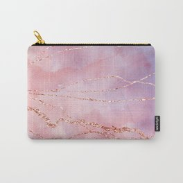Blush and Purple Sky with Rose gold flashes Carry-All Pouch