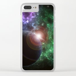 The Kenzie Nebula Clear iPhone Case