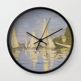 Claude Monet Regattas at Argenteuil Wall Clock