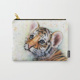 Tiger Cub Watercolor Carry-All Pouch