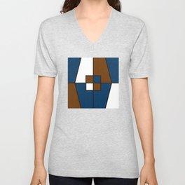 Color Block_Gentleman Unisex V-Neck