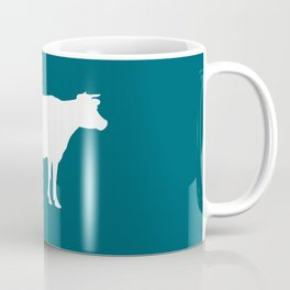 Cow: Blue, Dark Teal Coffee Mug