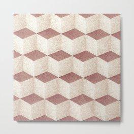 Cubic geometric pattern textile design for home decoration Metal Print