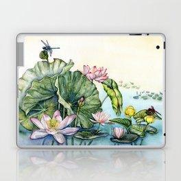 Japanese Water Lilies and Lotus Flowers Laptop & iPad Skin