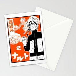 ninja anime orange Stationery Cards