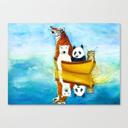 Herbert at Sea Canvas Print