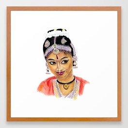 Indian dancer Framed Art Print