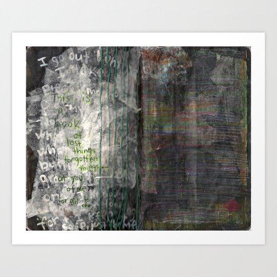 Pressed between pages 4 Art Print