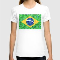 brasil T-shirts featuring BRASIL em progresso by Bianca Green