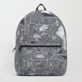 Gray circuitry Backpack