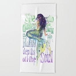 Mermaid : Profound Depths Beach Towel