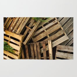 Wood Crate Paneling Pattern Rug