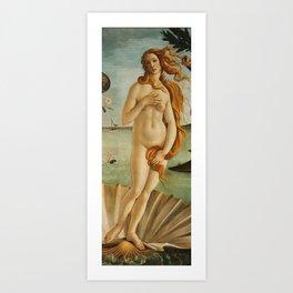 The Birth of Venus detail Art Print