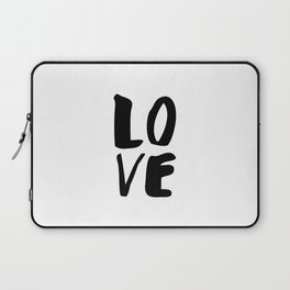 LOVE black and white monochrome typography poster design home wall bedroom decor Laptop Sleeve