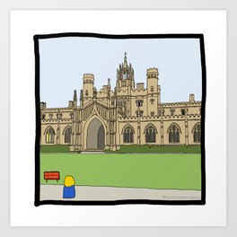 Cambridge struggles: St Johns Art Print