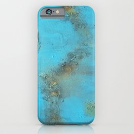 Earth. Texture. Blue. Jodilynpaintings. Brown. Abstract. Earths Crust. iPhone Case