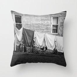 Amish Laundry Throw Pillow