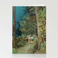 wander Stationery Cards featuring Wander by leafandpetal