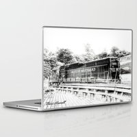 train Laptop & iPad Skins featuring Train by Geni