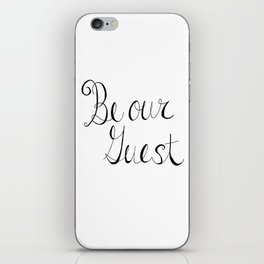 Be Our Guest iPhone Skin