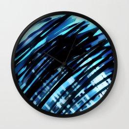 Blue Crossing Wall Clock