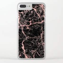 Marble Rose Gold - Someone Clear iPhone Case