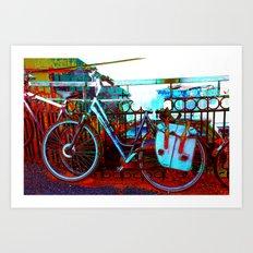 urban bike collage Art Print