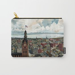 Milwaukee Wisconsin - Vintage Panoramic View Carry-All Pouch