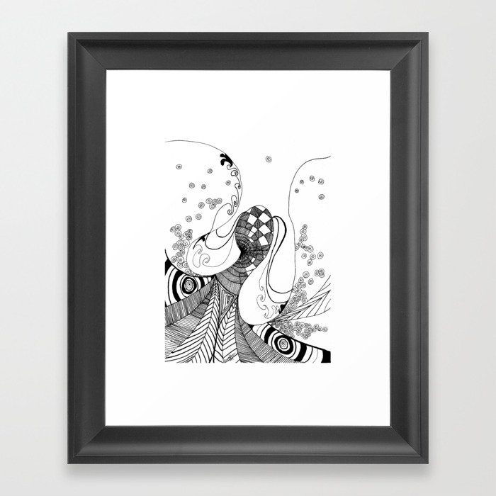 Dancing Lady Framed Art Print